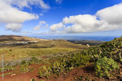 Spoed Foto op Canvas Grijze traf. Lanzarote, Kanarische Inseln, Spanien, Canary Islands, Spain