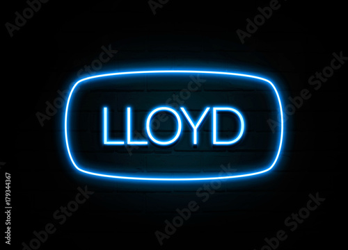 Photo  Lloyd  - colorful Neon Sign on brickwall