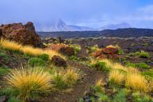 Beautiful View Of Lava Fields ...