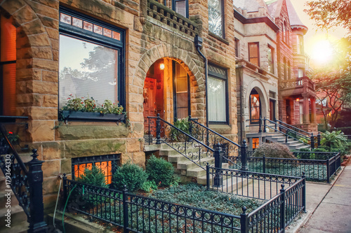 Foto op Aluminium Chicago Chicago rowhouse neighborhood