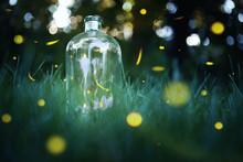 Fireflies In A Jar.