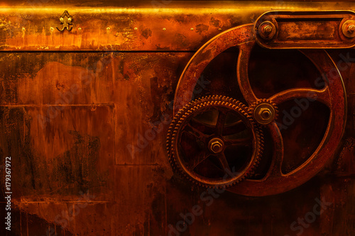 Stampa su Tela background vintage steampunk