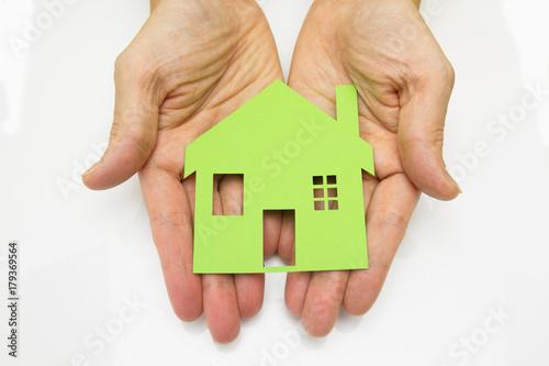 Photo Papier coupé  maison