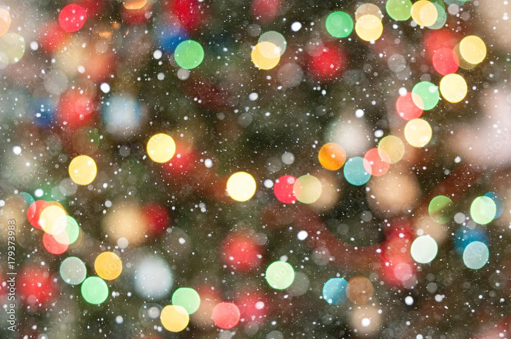 Fototapeta Christmas light bokeh