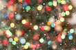 canvas print picture - Christmas light bokeh