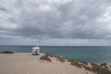 Camper Van Parked Overlooking ...