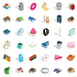 Home icons set, isometric style
