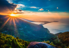 Landscape Photo Of Beautiful Sunrise On The Mountain