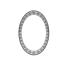 Frame Oval Of Spiral Card. Fas...