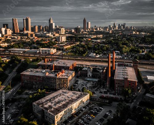 Plakat City of Atlanta Downtown Aerial View