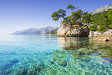 Fototapeta Natura - Beautiful bay near Brela town, Makarska rivera, Dalmatia, Croatia