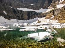 Iceberg Lake Trail In Summer, ...