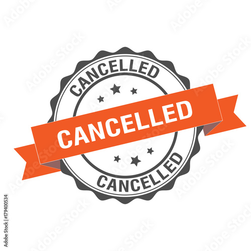 Fotografía  Cancelled stamp illustration