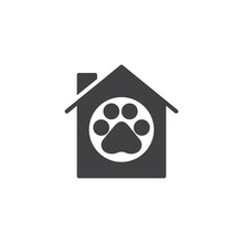 Pet House Icon Vector, Filled ...
