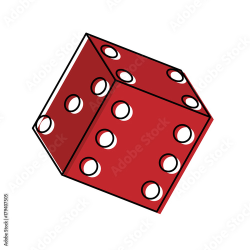 colorful dice over white background  vector illustration плакат
