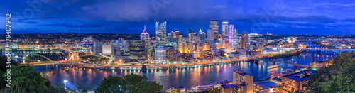 Acrylic Prints Dark blue Pittsburgh, Pennsylvania, USA
