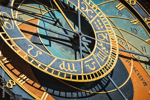 Tuinposter Praag Prague astronomical clock