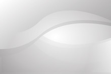 White And Grey Circular Curve Abstract Background Vector For Presentation. Background And Abstract Concept.