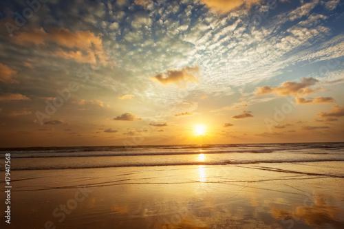 Photo  Sunset on Baga beach. Goa
