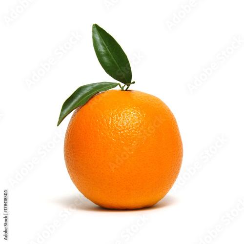 orange fruit isolated on white Wall mural