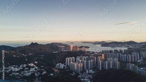 Obraz na dibondzie (fotoboard) Zmierzch w Kowloon, Hong Kong
