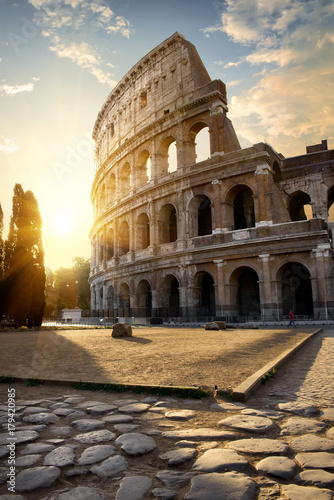 Great Colosseum in morning Wallpaper Mural