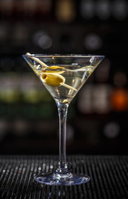 Close Up Of Martini Cocktail