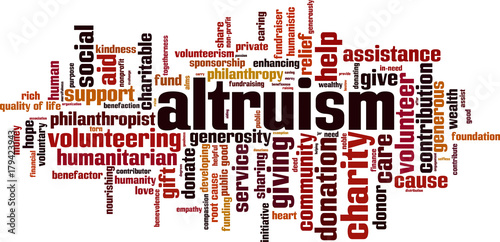 Altruism word cloud Wallpaper Mural
