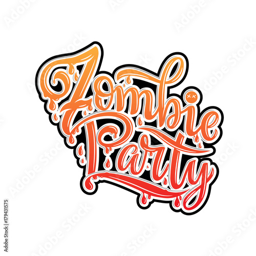 Zombie Party Text For Party Invitation Greeting Card