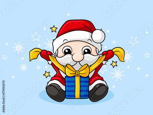 Kleiner Comic Weihnachtsmann Vektor Buy This Stock Vector