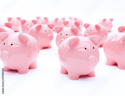 Fotografie, Obraz  Piggy bank finance
