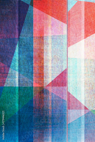dark blue geometric background - colored texture Wall mural