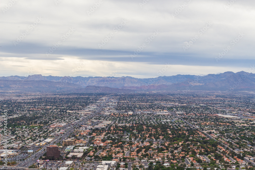Las Vegas Nevada view from Statosphere Observation Deck Poster ...