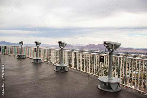 Stratosphere Observation Deck telescope Las Vegas Nevada USA