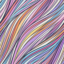 Abstract Wavy Lines Seamless P...
