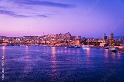 View of Cagliari, Sardinia, Italy.