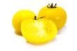 canvas print picture - Gelbe Rispentomaten tomaten tomate rispentomate isoliert freigestellt auf weißen Hintergrund, Freisteller