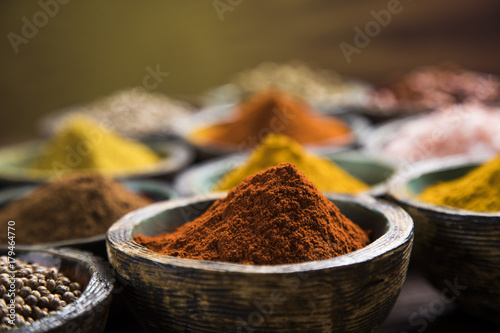 Printed kitchen splashbacks Spices Colorful spices