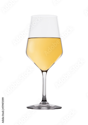 Foto op Canvas Alcohol Glass of white wine isolated on white
