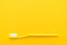Close-up Plastic Toothbrush On...