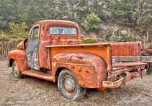 Old Rusted Truck At A Pumpkin Farm