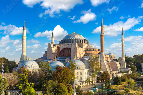 Hagia Sophia in Istanbul, Turkey Wallpaper Mural