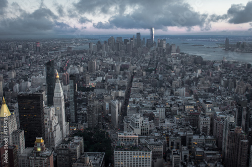 New York City at Evening Time Plakat