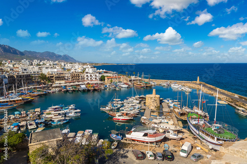 City on the water Harbour in Kyrenia (Girne), North Cyprus
