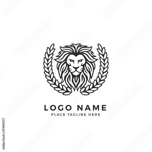 King Lion Head Logo Template, Strong Glare Lion Face. Elegant Design ...