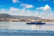 Ferry in Dardanelles strait, Turkey