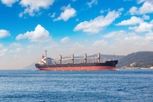Container Ship In Dardanelles ...