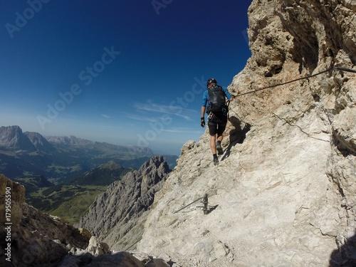 Photo  ferrata nelle Dolomiti