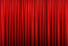 ステージ 赤カーテン