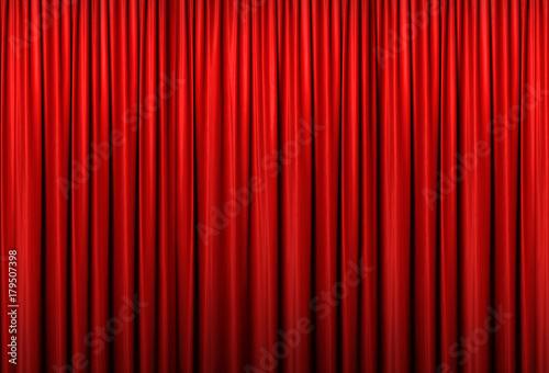 Fototapeta ステージ 赤カーテン